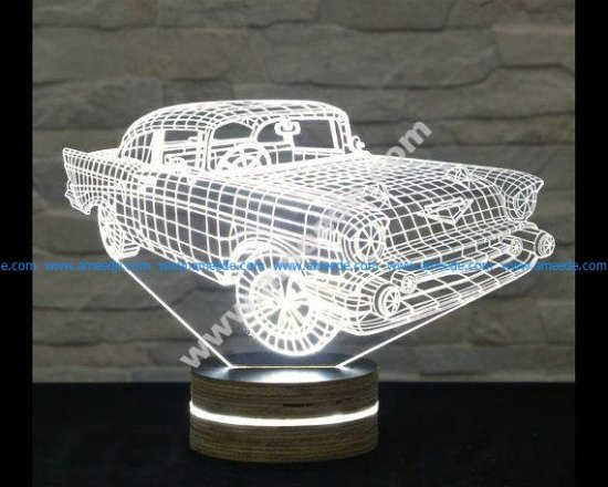 Creative 3D LED Car Night Lamp