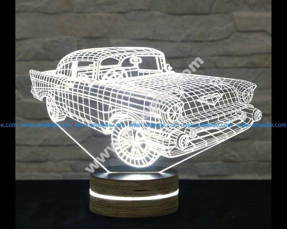 Creative 3D LED Car Night Lamp