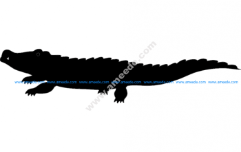Crocodile Silhouette vector