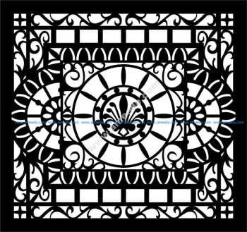 Decorative Partition Wall Pattern EPS File
