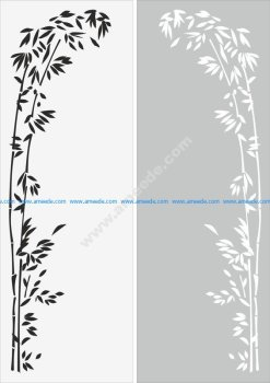 Decorative floral border ornament sandblast pattern