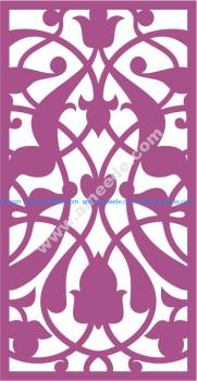 Design of laser cut floral screen