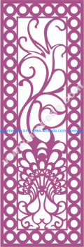Design of laser cut screen