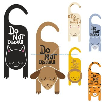 Do Not Disturb Sign Vector Art