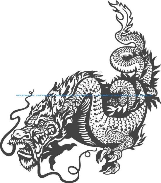 Dragon Celestial Animals Vector Art
