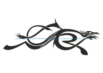 Dragon Symbol Tattoos Vector