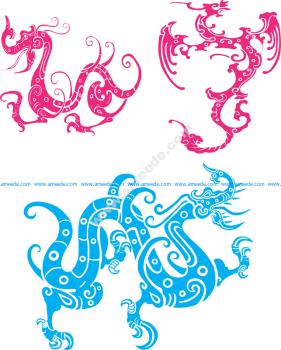Dragon Totem Vector