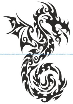 Dragon totem Tattoo Sticker