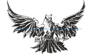 Eagle Attacking Tattoo Design Vector