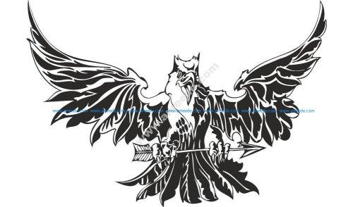 Eagle Attacking Tattoo Design Vector
