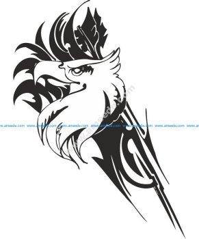 Eagle predatory bird Sticker