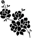 Elegant Black And White Flower Vector Art jpg