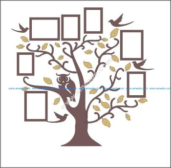 Family Tree Owl Photo Frames