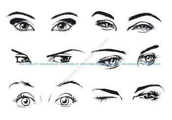 Female Eye Vector Art
