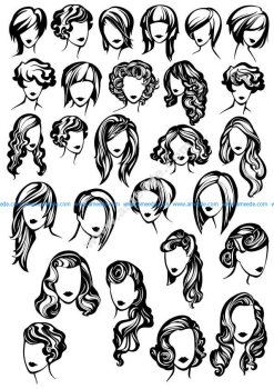 Female Face Silhouette Vector Art