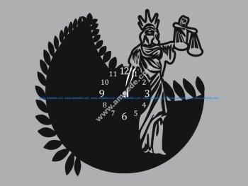 Femida woman of justice Clock