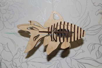 Fish 3D Puzzle Laser cut Pattern
