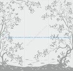 Floral Sand Blasting Vector Art