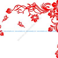 Floral Scrolls Vector Art