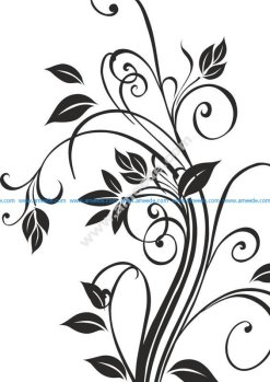 Floral Silhouettes Vector Art