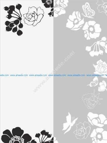 Flower Sandblast Pattern