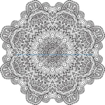 Flowers Setncil Vector