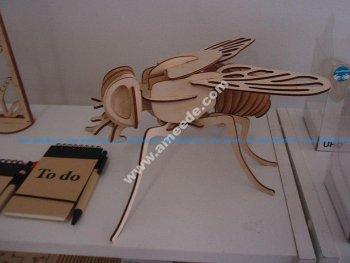Fly 3D Woodcraft Hobby Wooden Model Laser Cut
