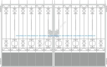 Forged Gates Design Vector