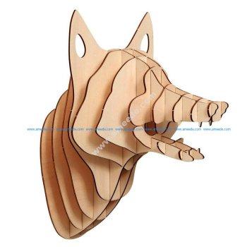Fox Head 3D Puzzle Plan