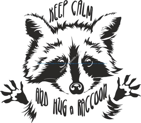 Funny Touching Raccoon Wants Hug Cuddle Vector