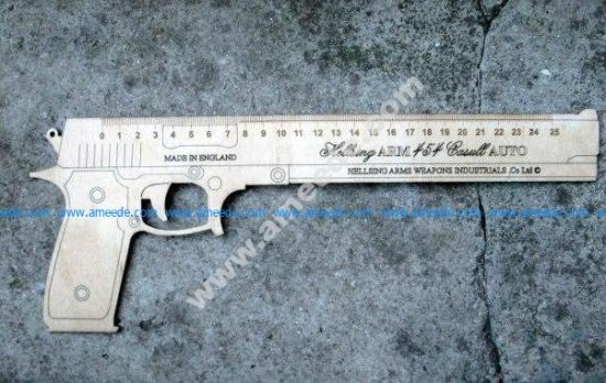 Gun-Shaped Ruler