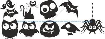 Halloween Silhouette Vectors