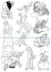 Harry Potter Line Art Vectors