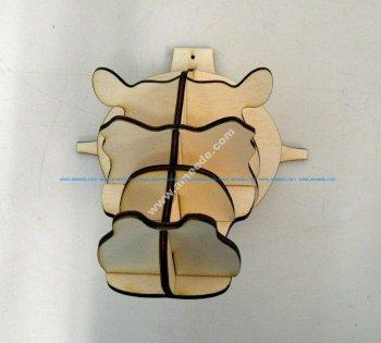 Hippohead 4mm 3d puzzle plan