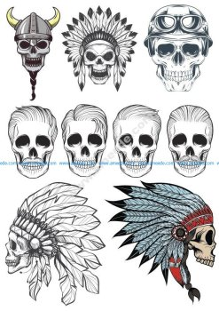 Indian Skull Vectors Pack