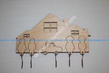 Key holder laser cut