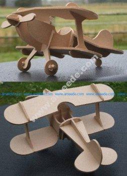 Kukuruznik biplane laser cut