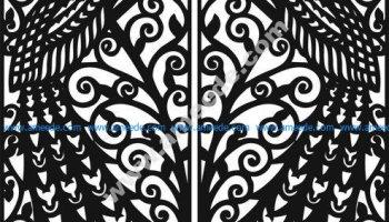 Laser Cut Door   Graphic Design Vector