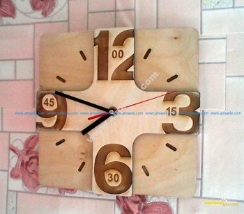 Laser Cutting Wall Clock