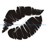 Lips Silhouette vector art