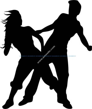 Man and woman dancing vector