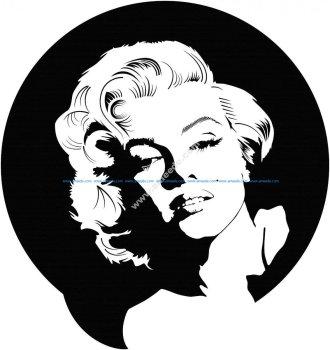 Marilyn Monroe Vector Art