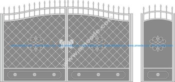 Metal Gate Forged Ornaments Vector Art