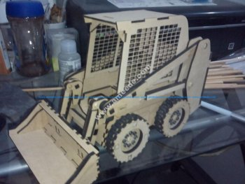 Mini Loader 3D Puzzle Pattern Lasercut