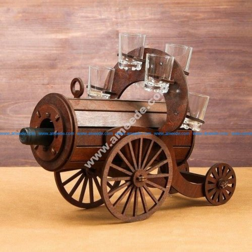 Mini bar wooden Cannon