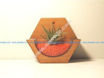 Mini wall Pot CNC 3D Puzzle