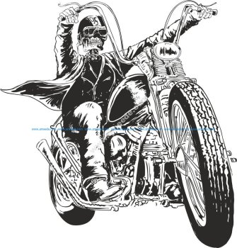 Motorcycle Vector Skull