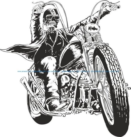 Motorcycle Vector Skull
