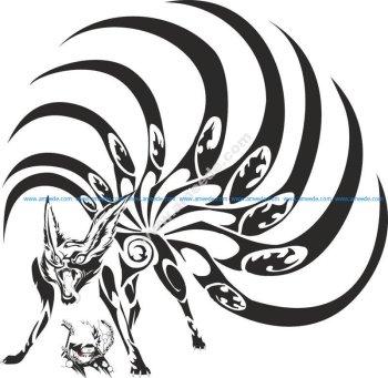 Naruto Kyubi Vector Art