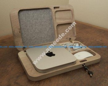 Oak Mac Mini Case